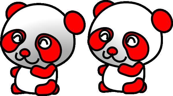 Red panda clip art at vector clip art