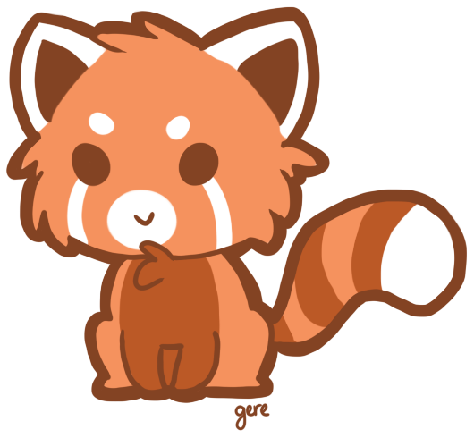 Red panda clipart 5