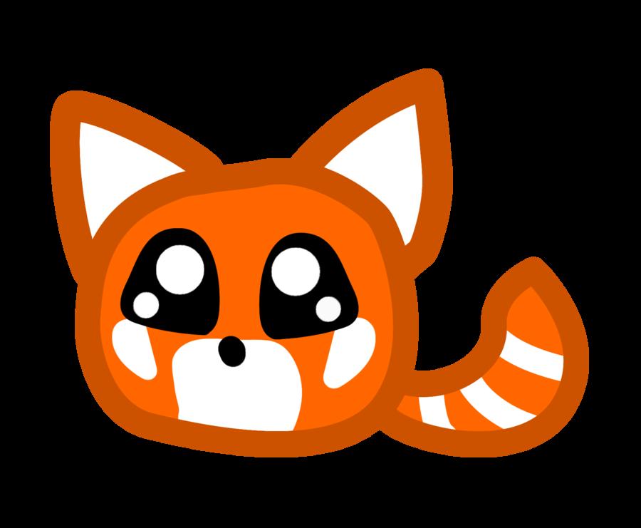 Red panda drawing clip art