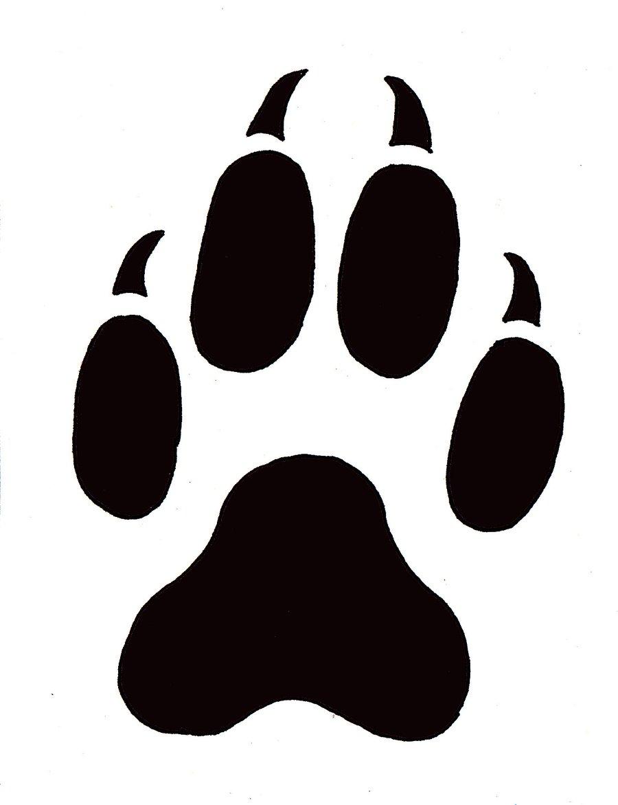 Red panda paw print clipart 2