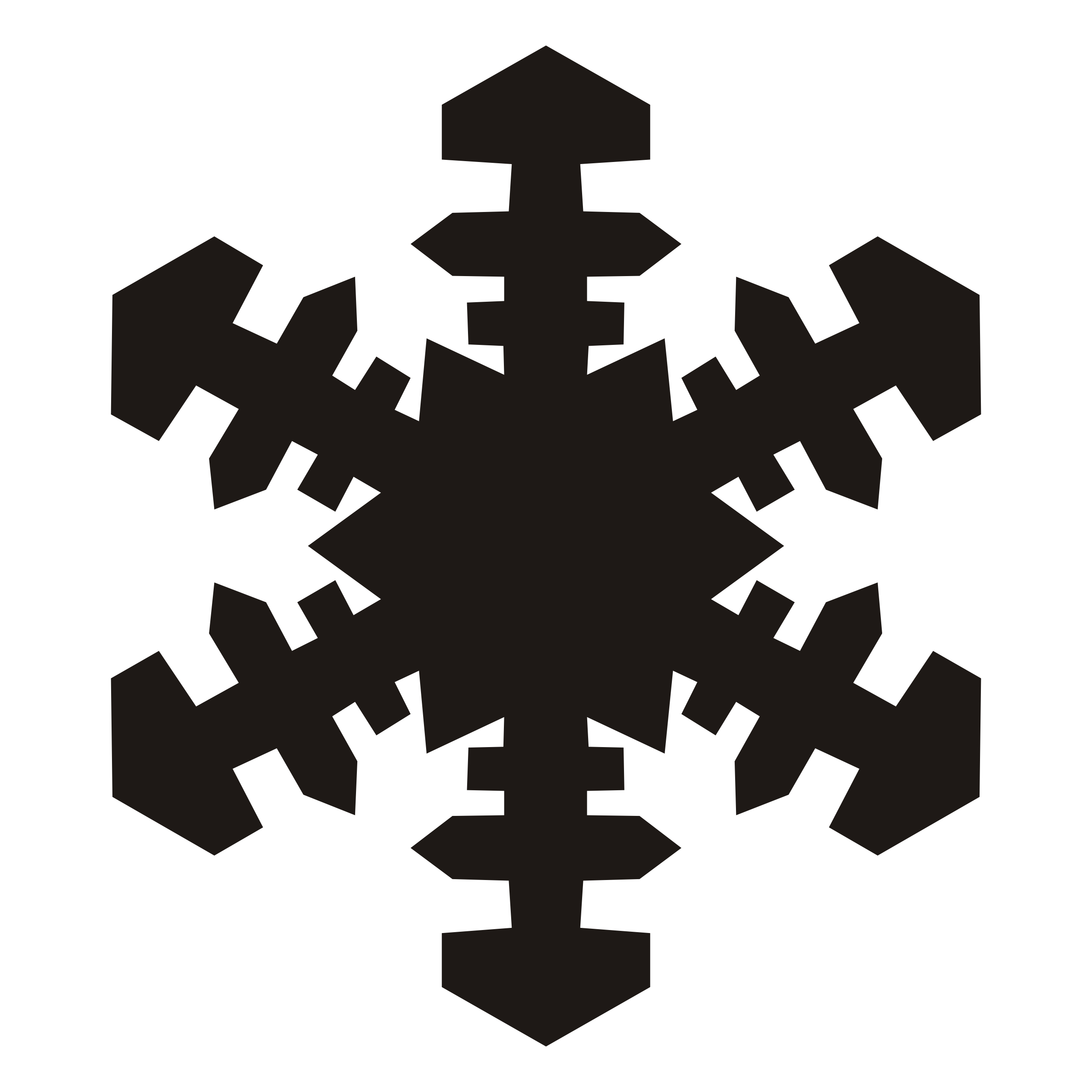Red snowflake clipart free images