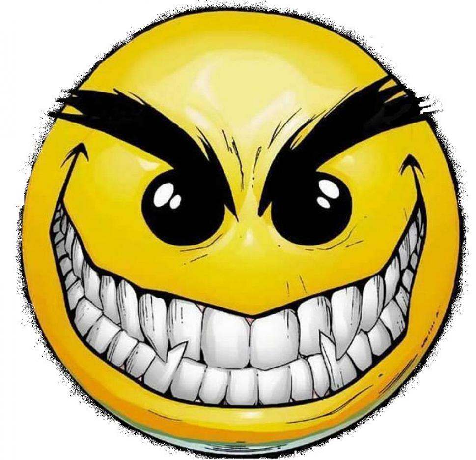 Scary smiley face clipart