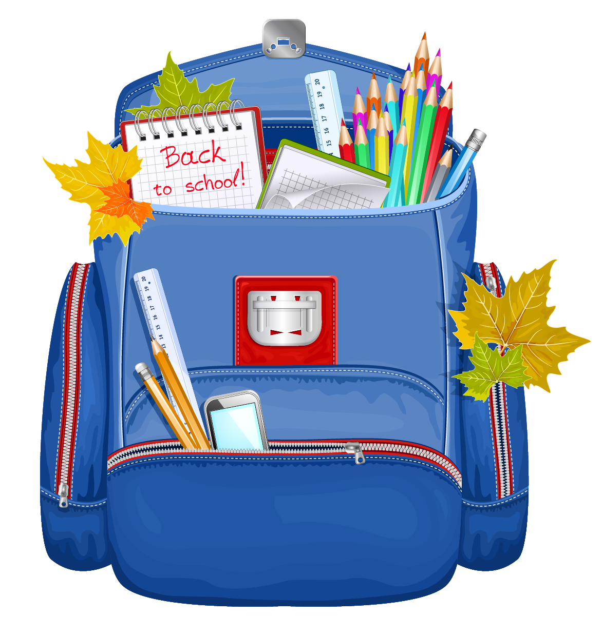 School backpacks clipart 2