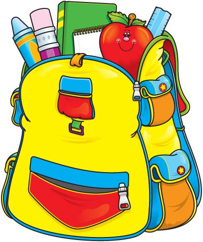 School backpacks clipart