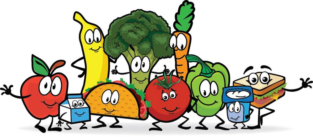School lunch and breakfast clipart