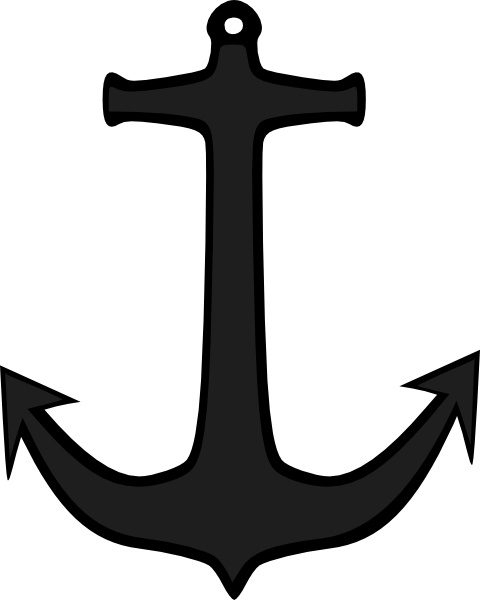 Simple anchor clip art free vector in open office drawing svg