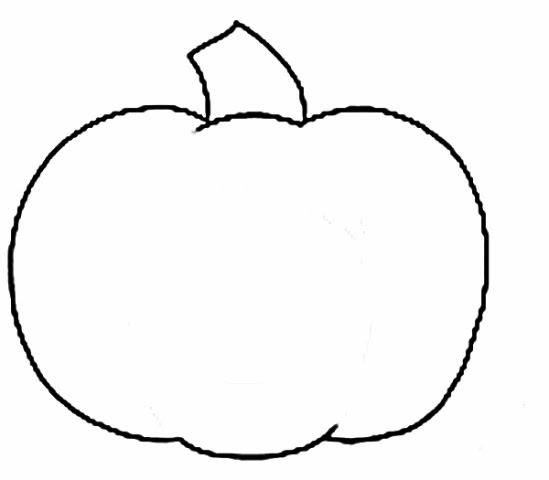 Simple pumpkin clipart