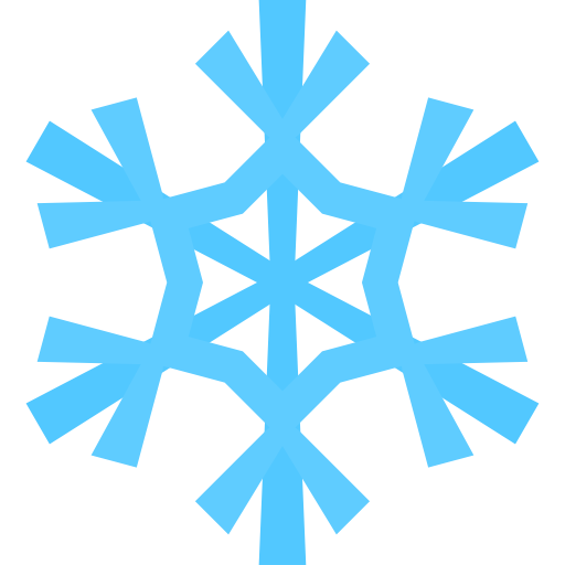 Simple snowflake clipart 2