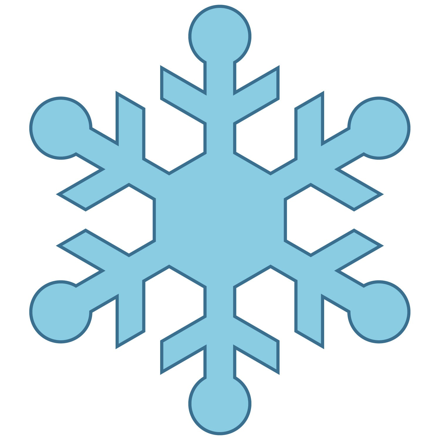 Simple snowflake clipart 3