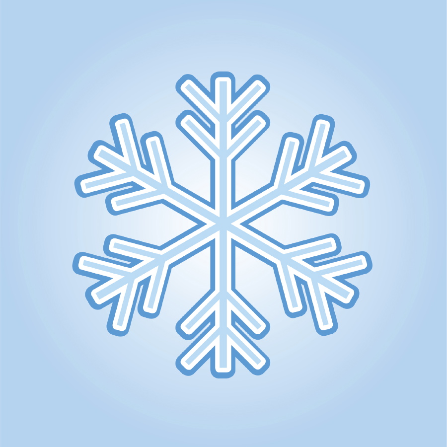 Simple snowflake clipart 4