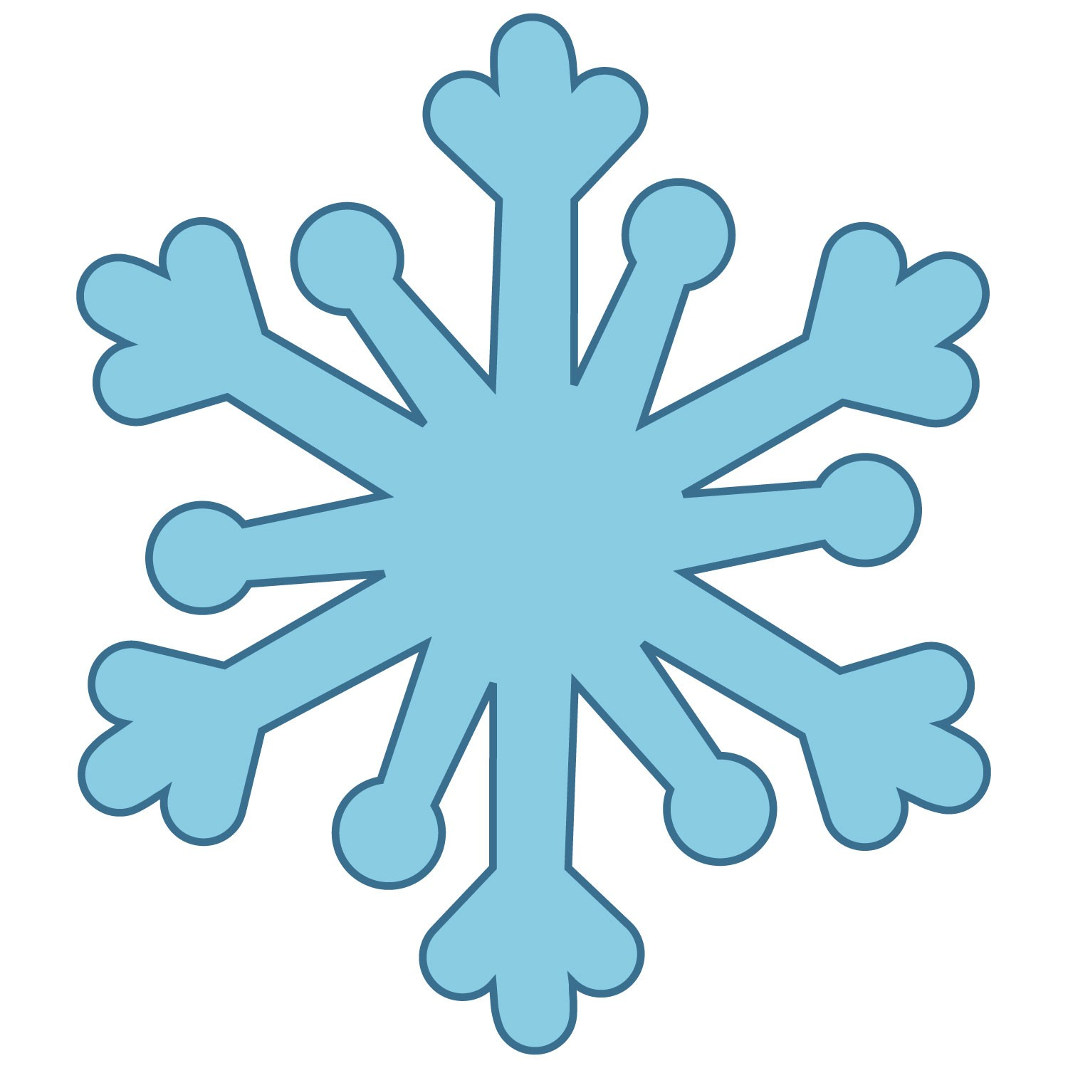 Simple snowflake clipart 5
