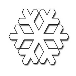 Simple snowflake clipart free 2