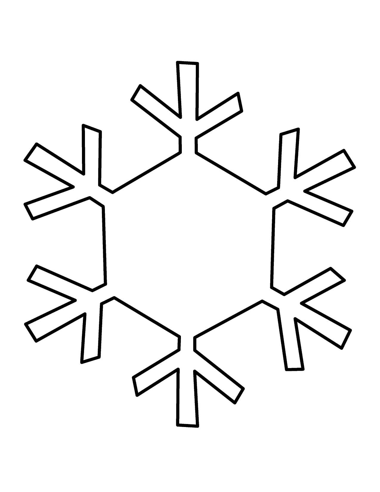 Simple snowflake clipart free images 2
