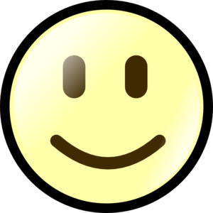 Smiley face clipart black and white free 3