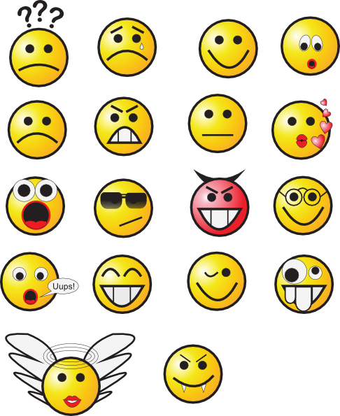 Smiley face faces images clip art