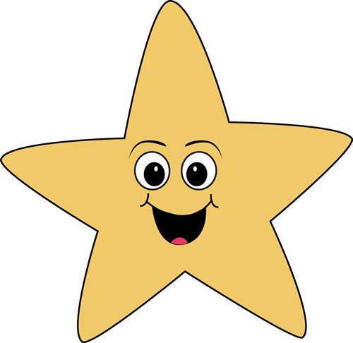 Smiley face star clipart