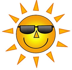 Smiley face sunshine clipart