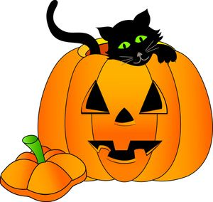 Smiley pumpkin clipart