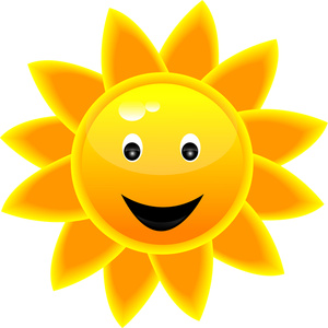 Smiling sun clipart free images 3