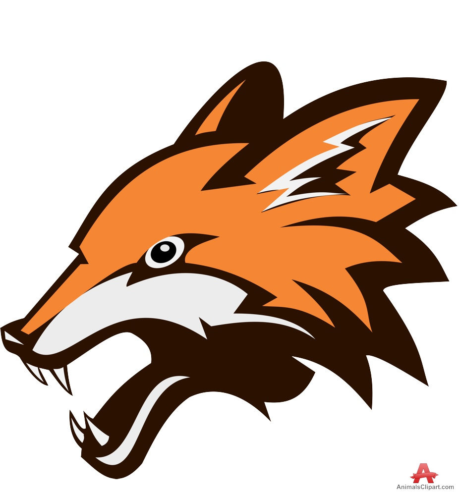 Snarling fox clipart design free download
