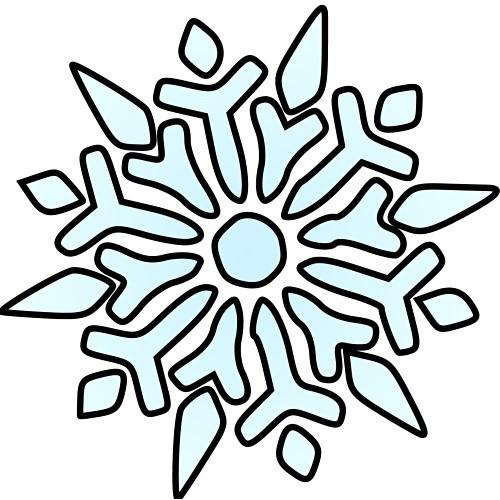Snowflake clip art 2