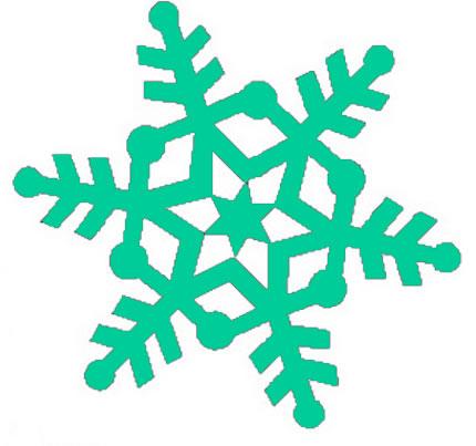 Snowflake clip art 3