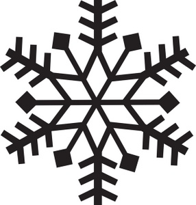 Snowflake clipart 4