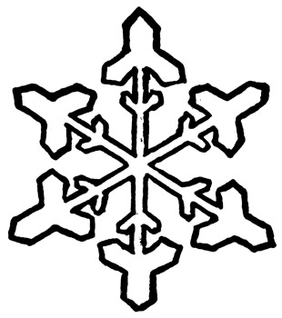 Snowflake clipart 6