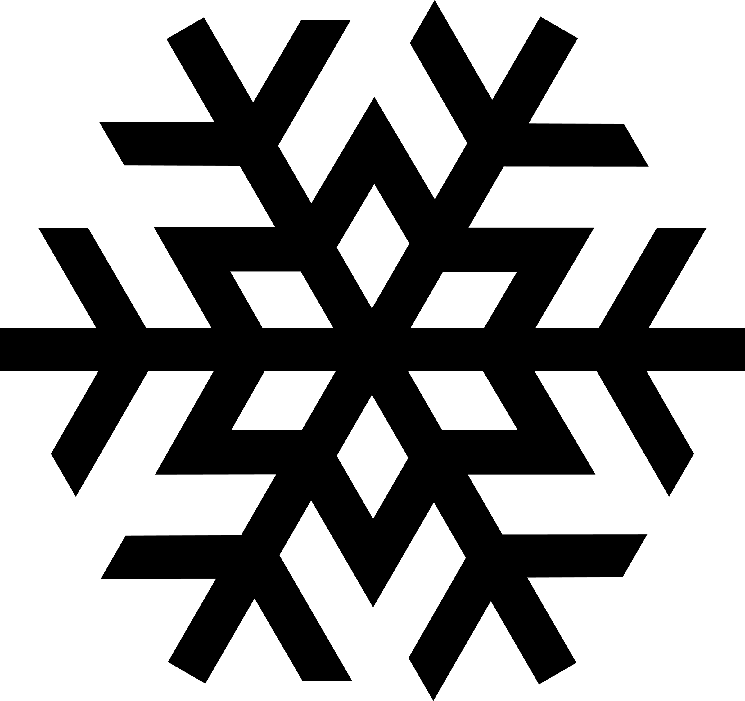 Snowflake clipart black and white free 2