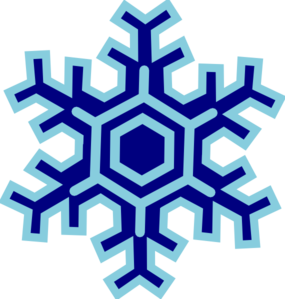 Snowflake clipart black and white free 4