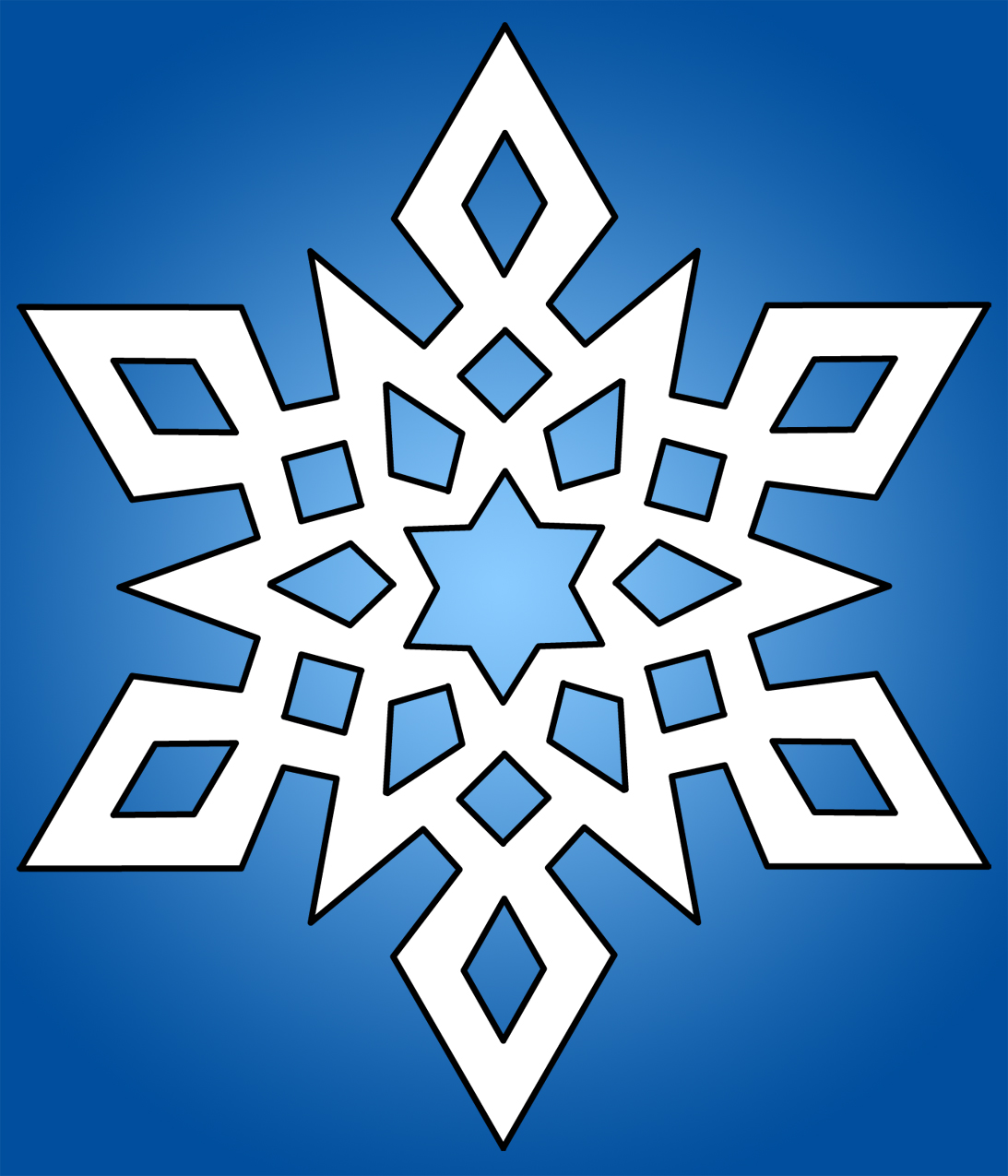 Snowflake clipart black and white free 5