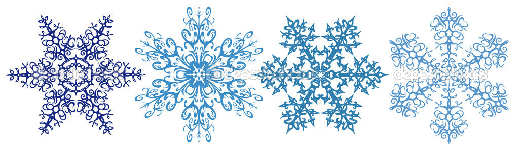 Snowflake clipart borders