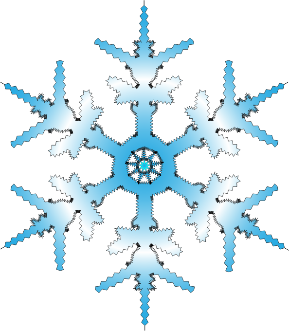 Snowflake clipart free