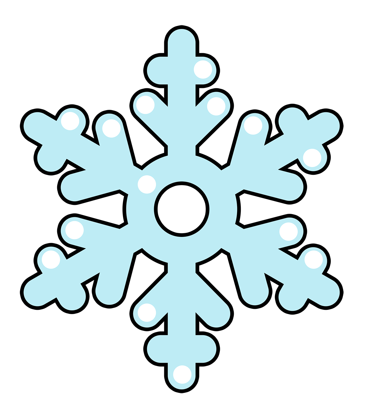 Snowflake free to use clip art
