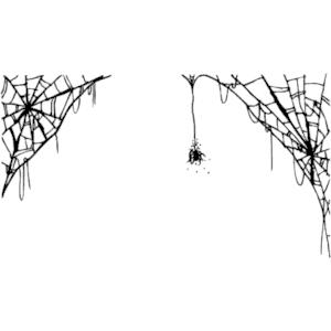 Spider web borders clipart 3