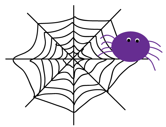 Spider web clipart 2