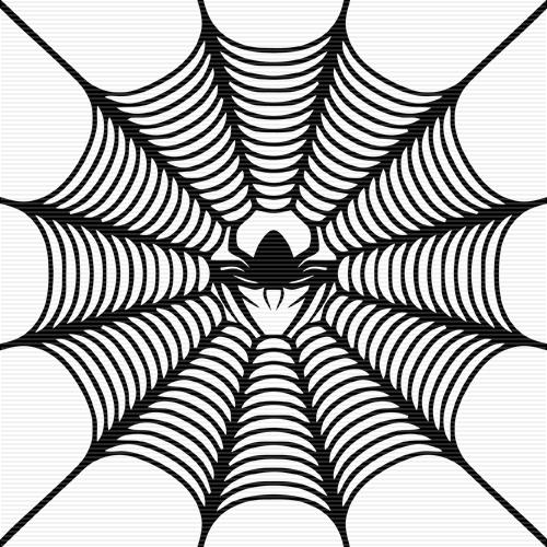 Spider web clipart 3