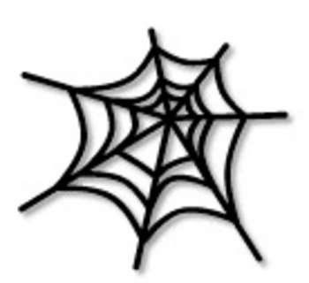 Spider web clipart 5