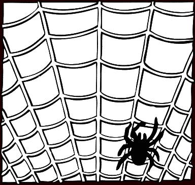 Spider web spiders clip art clipart 5