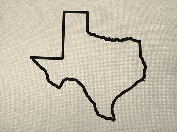 State of texas outline style silhouette by everythinggraphic