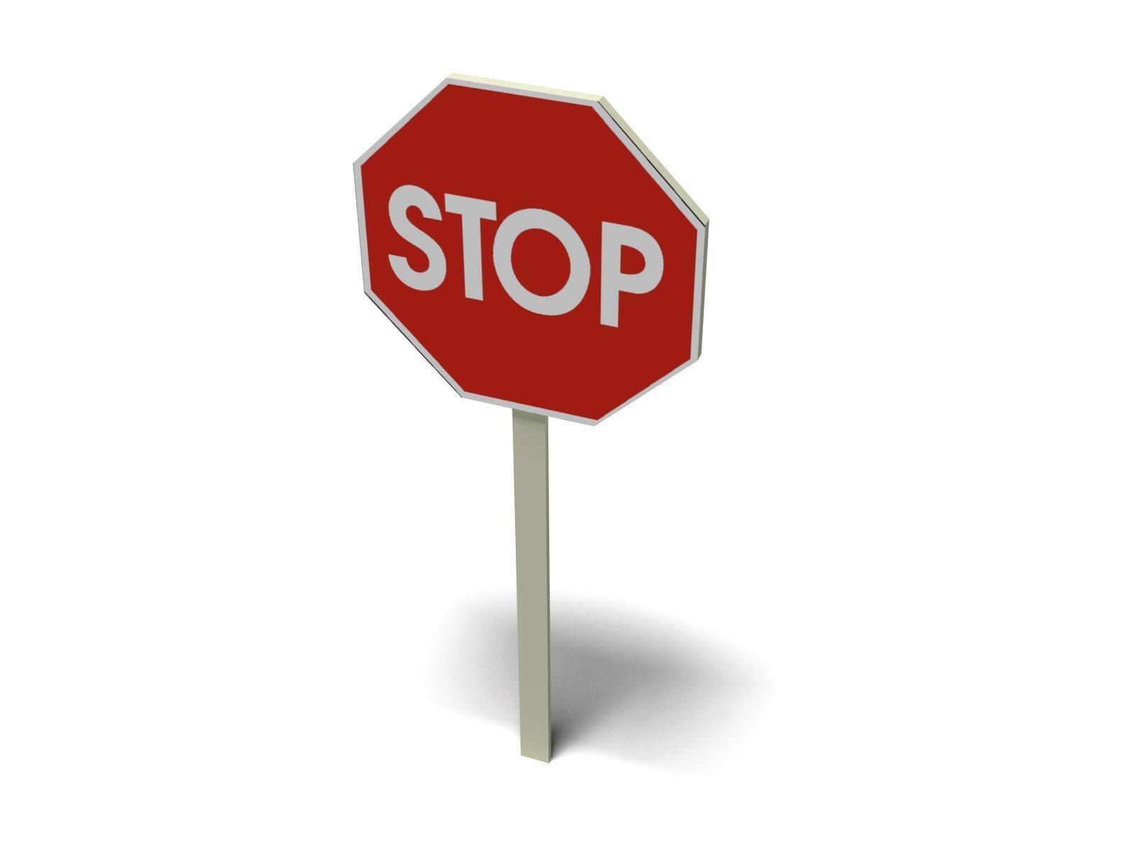 Stop sign 1 vector clip art