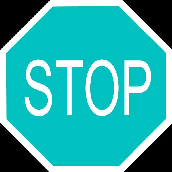Stop sign clip art 2