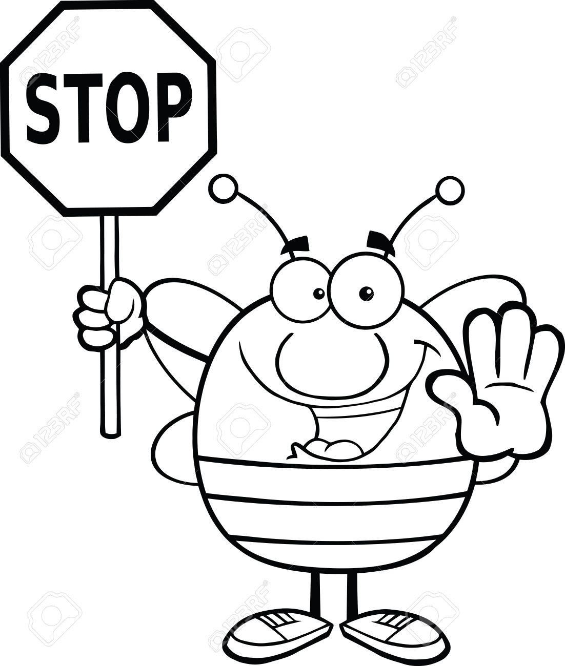 Stop sign clip art black and white tumundografico