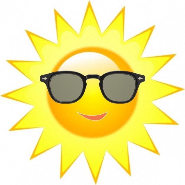 Sun with sunglasses 2