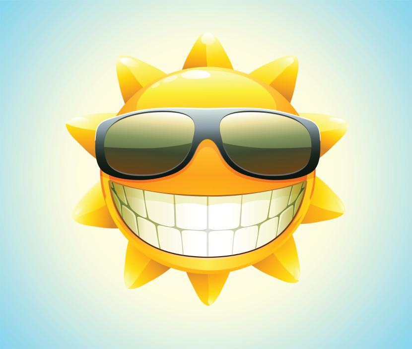 Sun with sunglasses 6