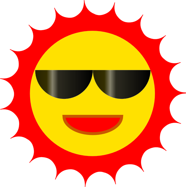 Sun with sunglasses clip art free clipart images 3
