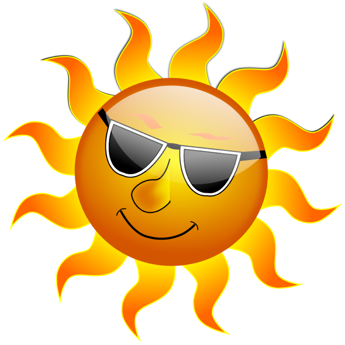 Sun with sunglasses clip art free clipart images 4