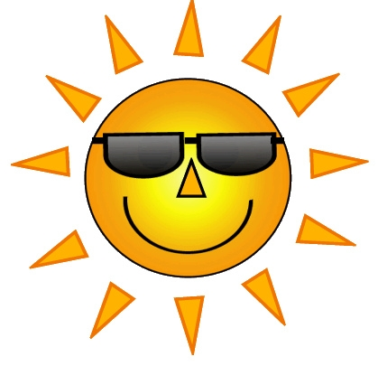 Sun with sunglasses clipart 2