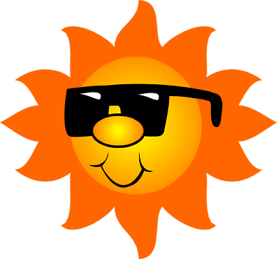 Sun with sunglasses clipart 3