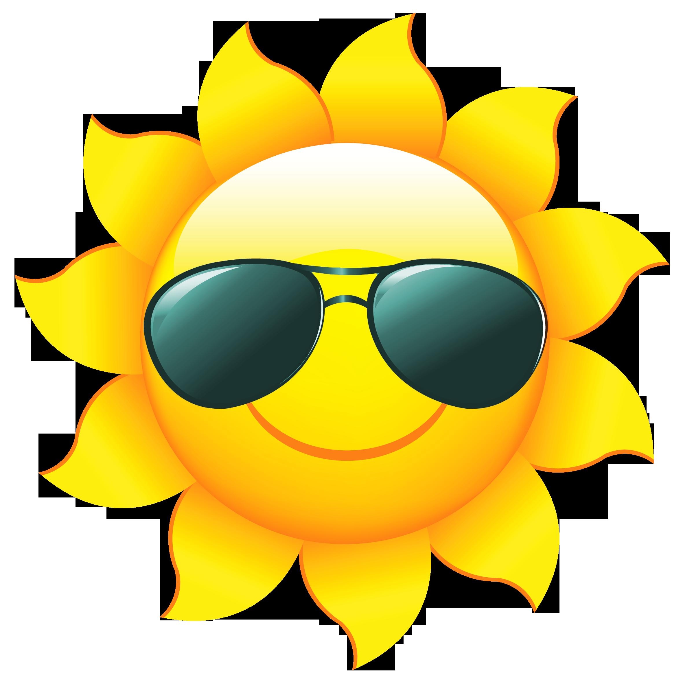 Sun with sunglasses clipart clip art clipartfox